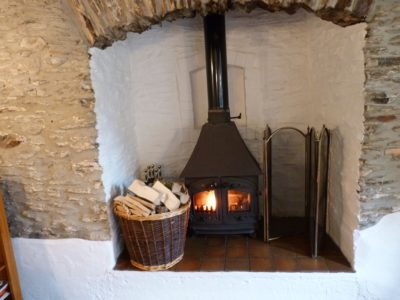 Woodburner in Rose Cottage
